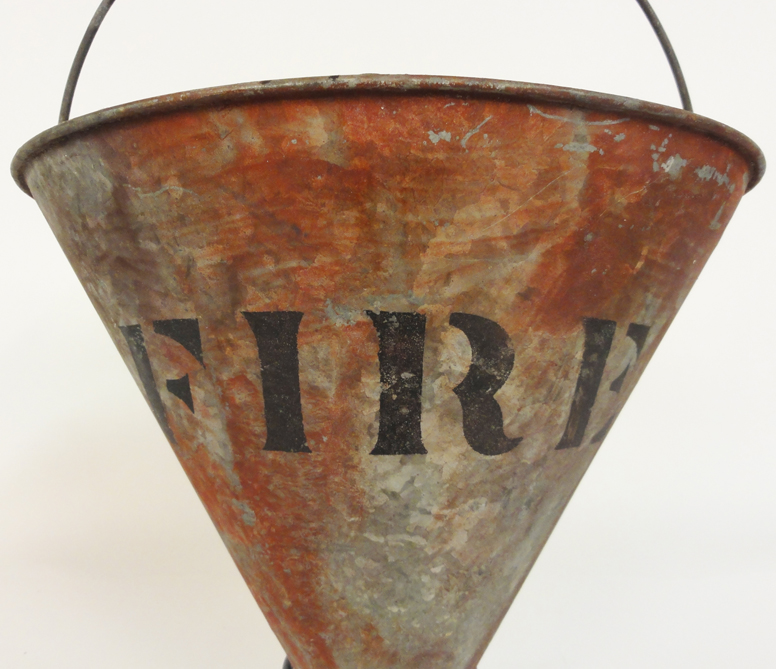 Lost Found Art Antique Fire Bucket